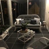 187 salon rotin Golf blanc gris veranda
