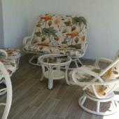 190 salon rotin veranda Madrid blanc