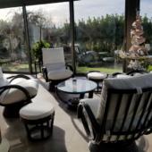 196 fauteuils Valence rotin noir veranda