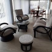 198 salon Valence rotin noir astennu pouf veranda
