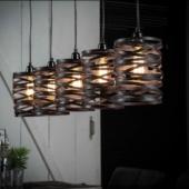 luminaire suspension metal industriel