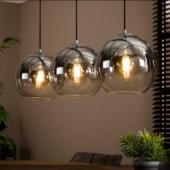 suspension verre luminaire industriel