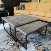 2 tables salon gigognes design industriel