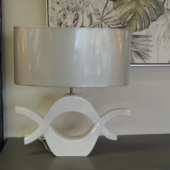 lampe deco design blanc luminaire