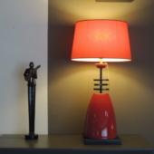 lampe design japonais rouge luminaire