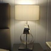 lampe metal argent luminaire design