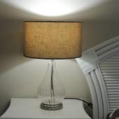 lampe verre et taupe deco