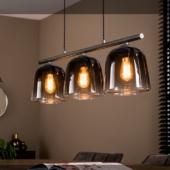 suspension 3 cloches verre deco design luminaire