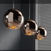 suspension cuivre plafonnier original luminaire