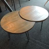 tables basses manguier et metal