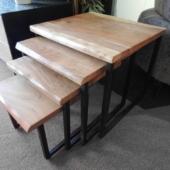 tables gigognes acacias industriel