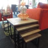 tables gigognes design industriel teck