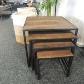 tables gigognes teck industriel
