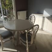27 table extensible ronde Nacar chaises et bahut rotin exodia home design rennes