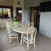 28 Nacar table ovale extensible rotin chaises enfilade veranda exodia home design rennes