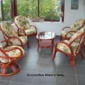40 coin Golf rotin fauteuils mandarine fixe et pivot veranda exodia home design rennes