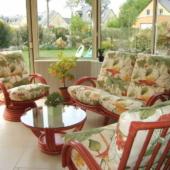 45 canape et fauteuils Valence rotin veranda rouge exodia home design rennes